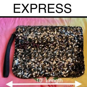 Express Large Sequined Clutch/Wristlet
